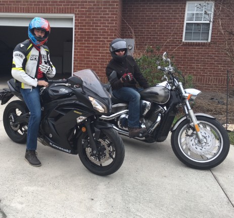 Two Sons on Motorcycles